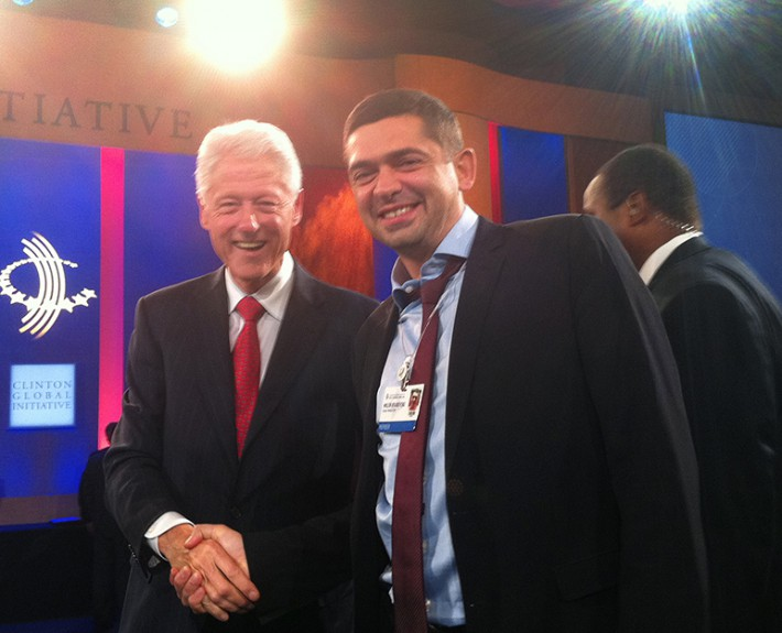 Dr. Milen Vrabevski and Bill Clinton, 42nd President of the United States Annual meeting of Clinton Global Initiative in New York, 23 Sep 2012