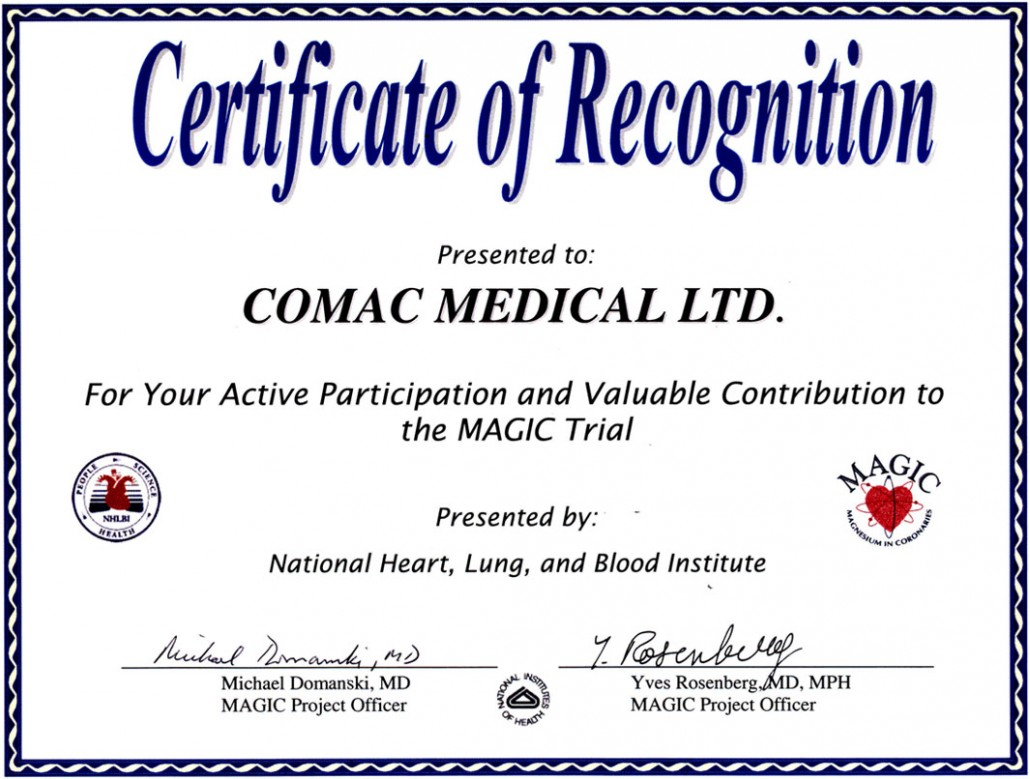 Certifications Comac Medical